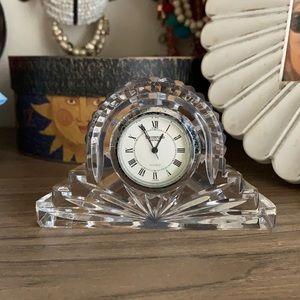 Waterford Lismore Small Crystal Mantel Clock